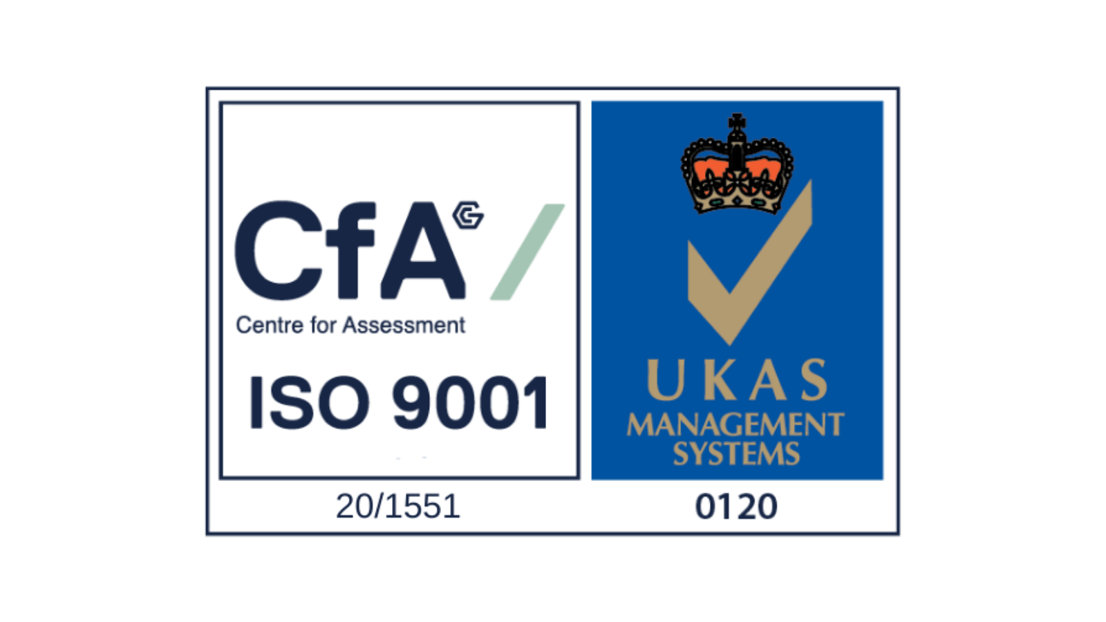We are ISO accredited